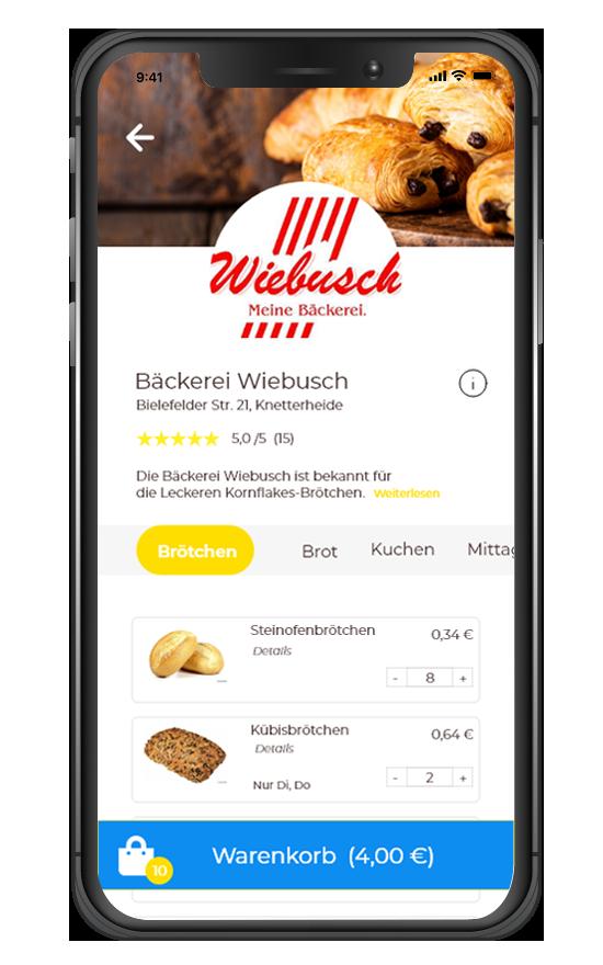 Bäckerei Online Shop