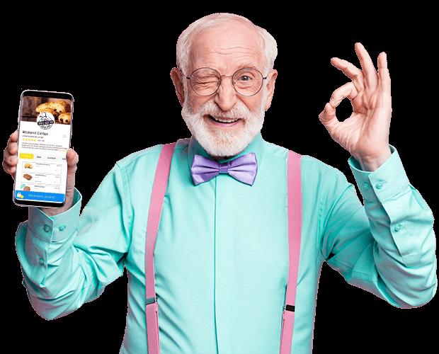 opa-mit-smartphone